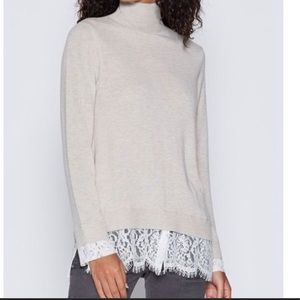 *NEW* Joie Fredrika Lace Trimmed Sweater Size S